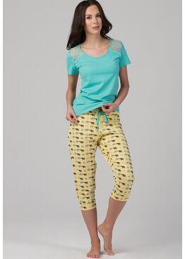 Пижама PY-1104 зеленый/желтый