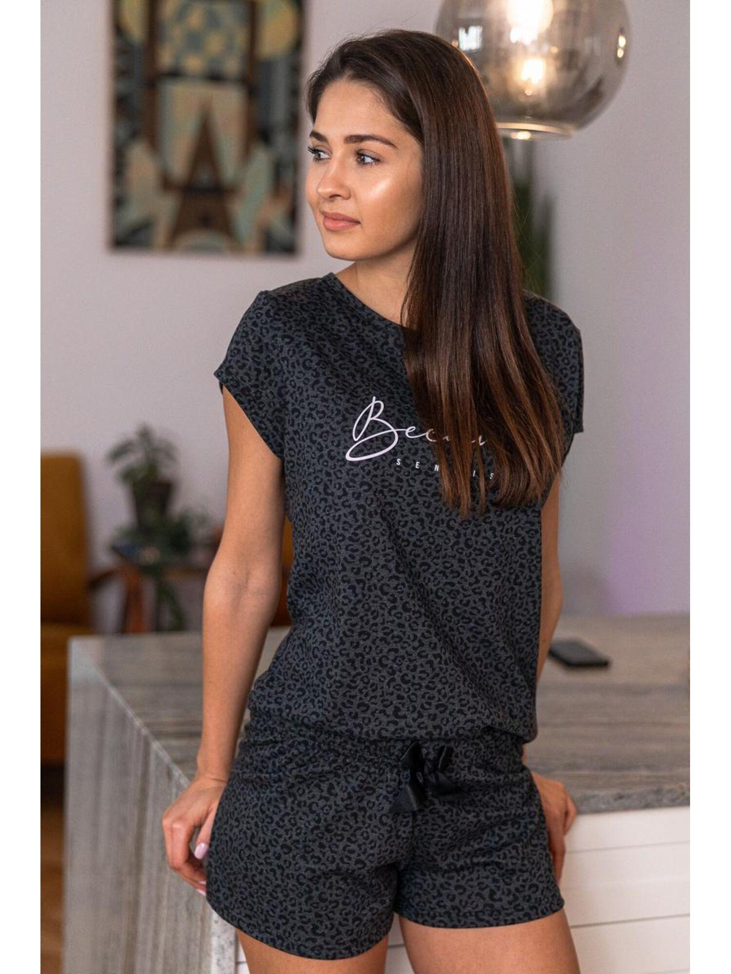 Пижама женская с шортами PANTHER, серый, Sensis