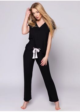 Комплект женский со штанами SHERY CZARNY, SENSIS