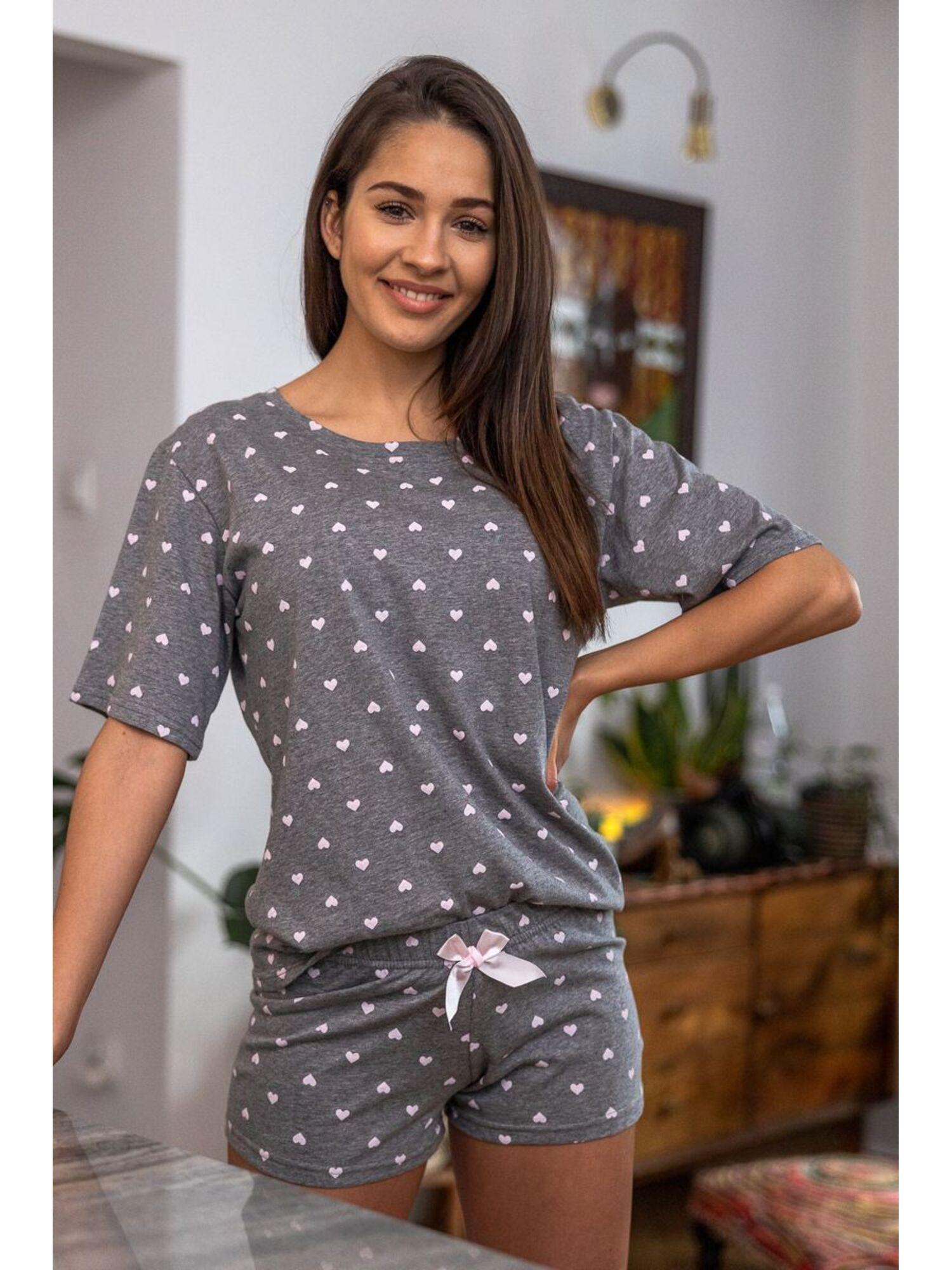 Пижама женская с шортами JULIETA, серый, Sensis
