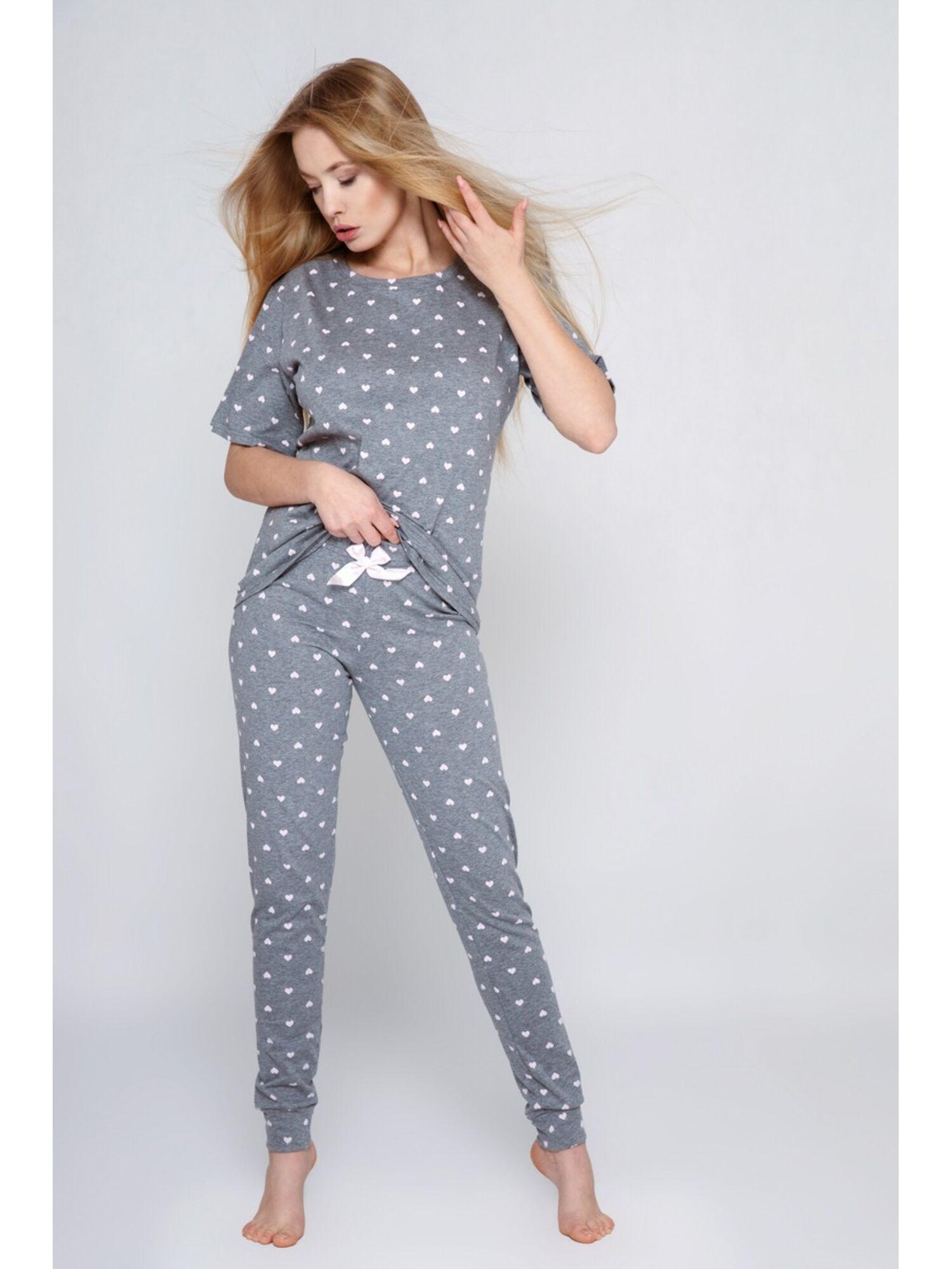 Пижама женская со штанами CRISTINE, серый, Sensis