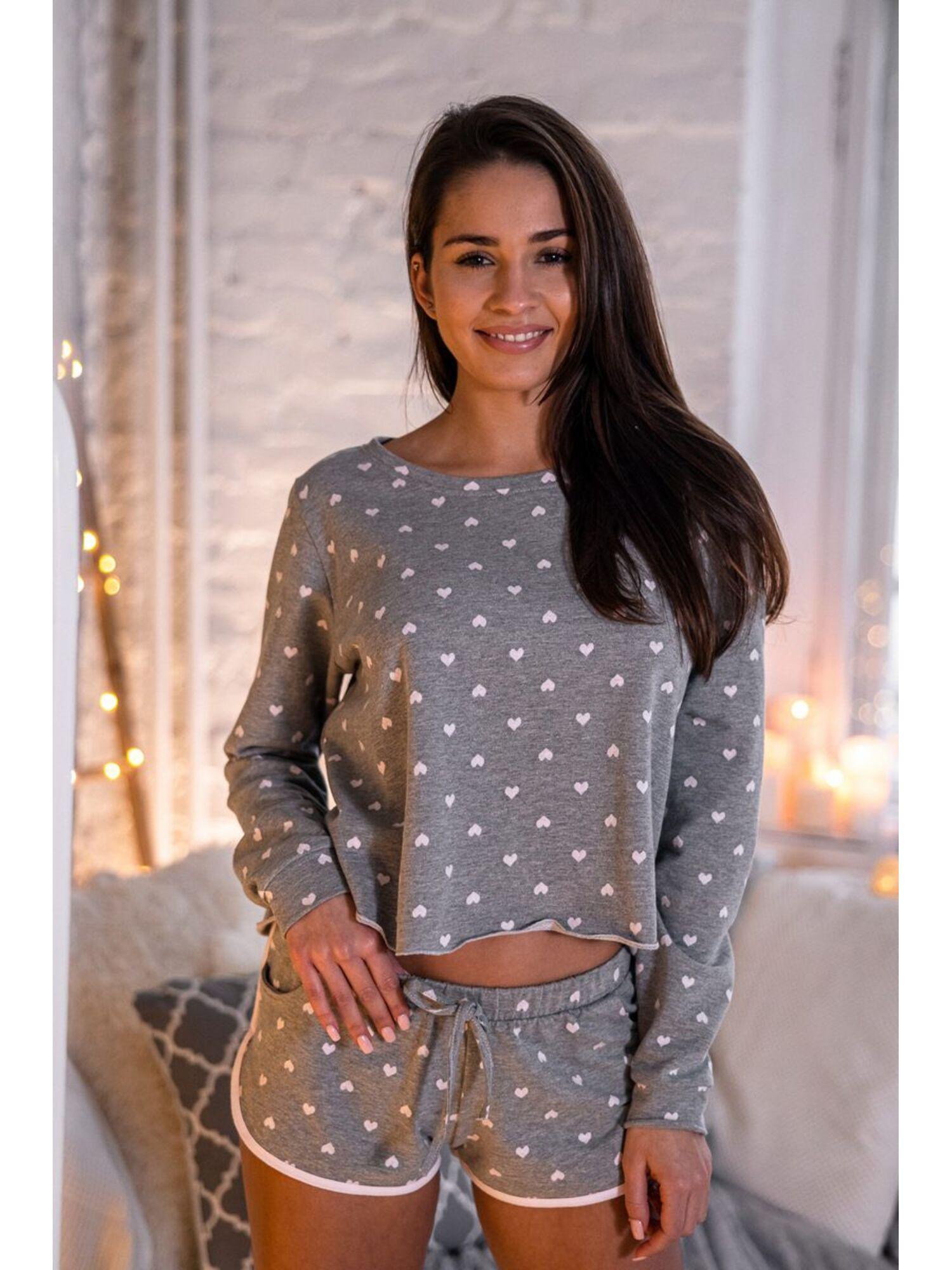 Комплект женский с шортами KOMPLET PILAR, серый, Sensis