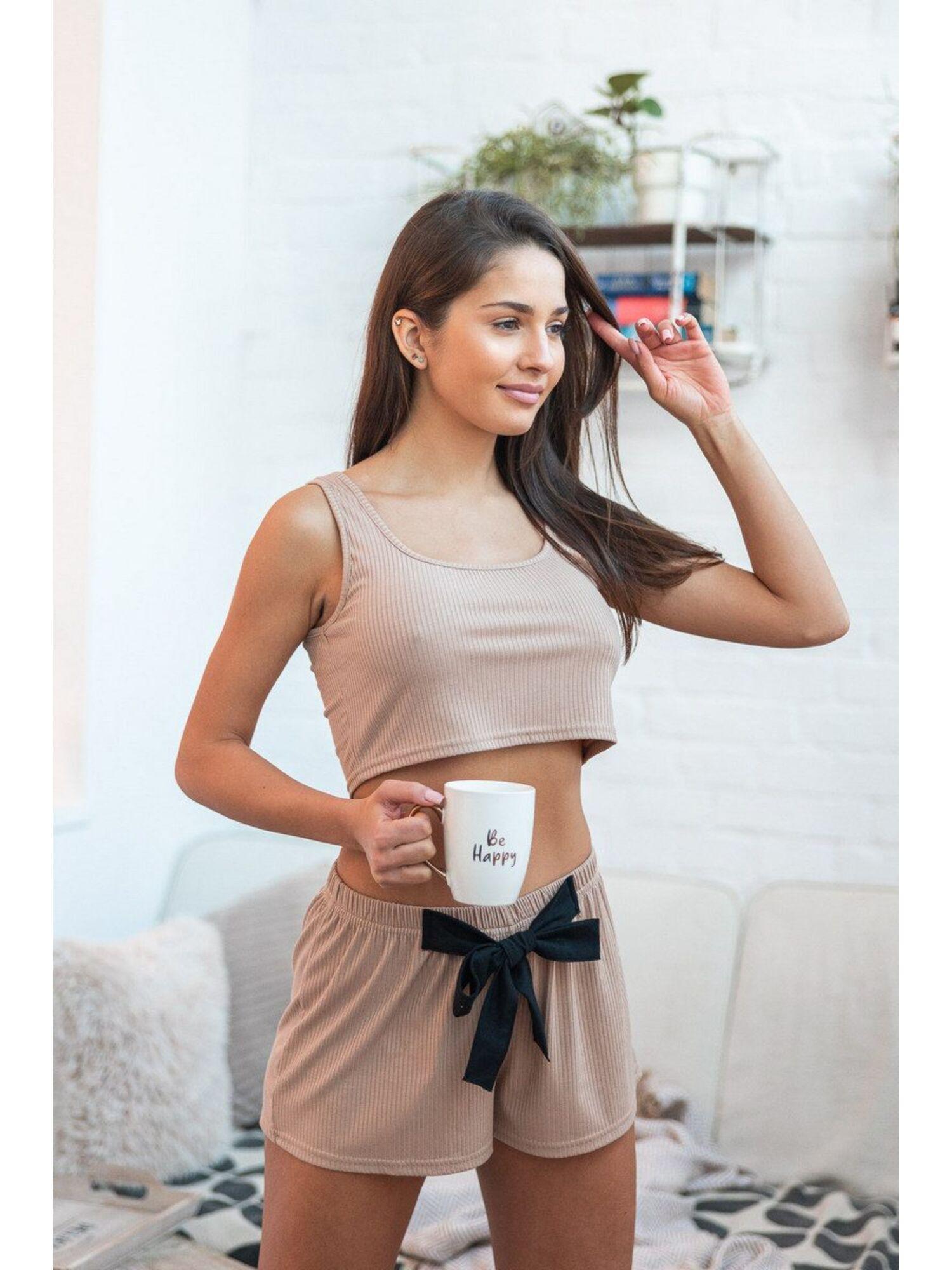 Комплект женский с шортами KOMPLET SOFIA, бежевый, Sensis