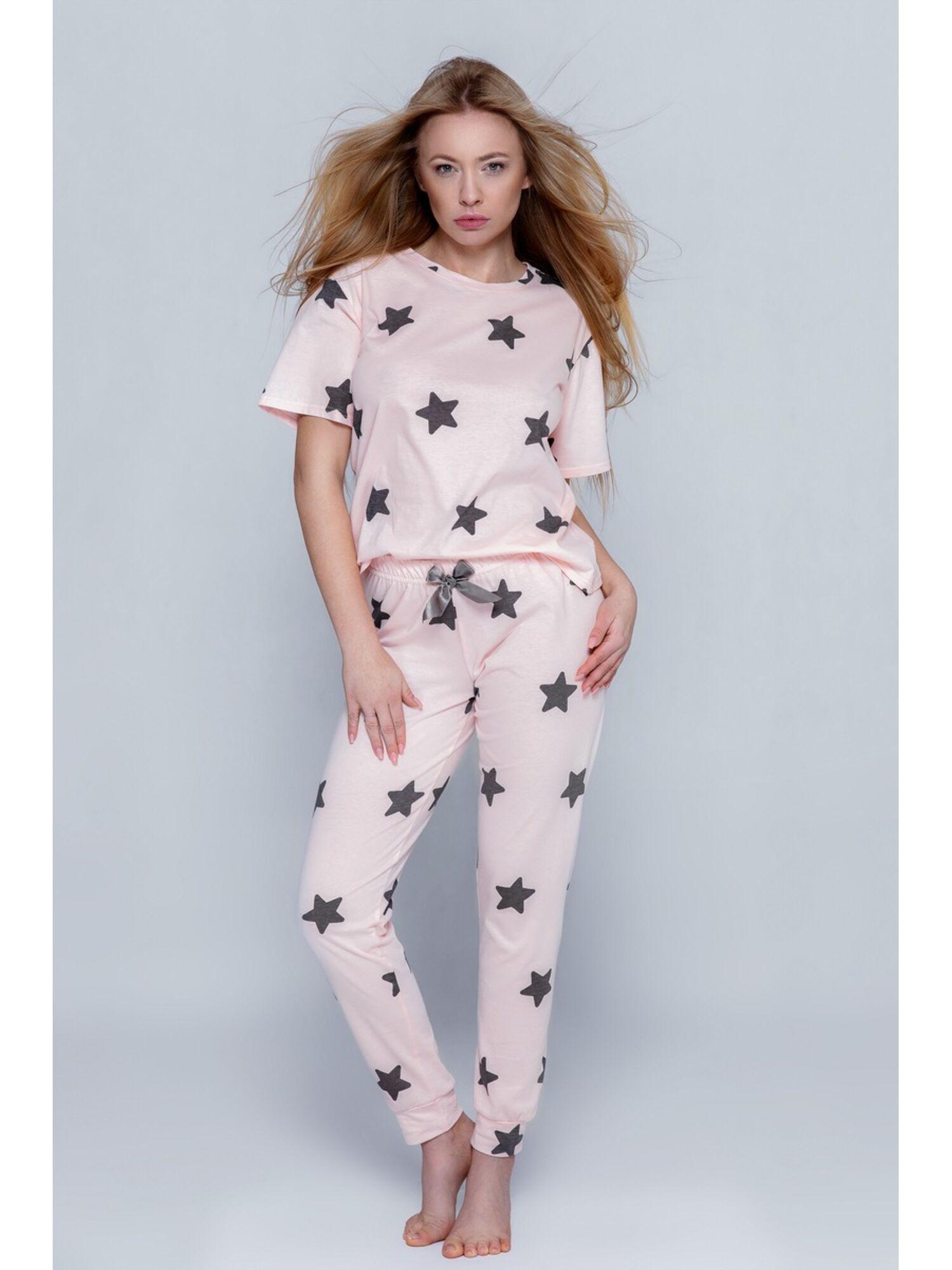 Пижама женская со штанами VERA, розовый, Sensis