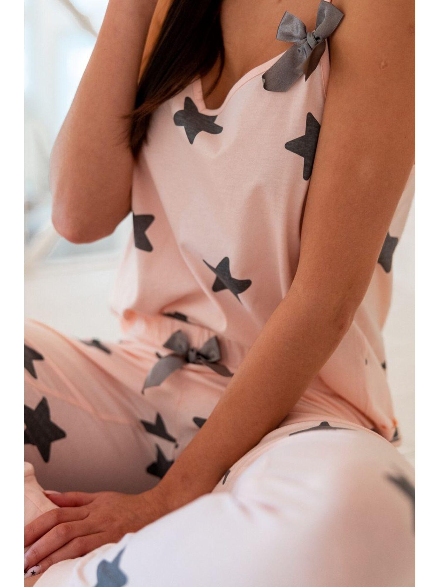 Пижама женская со штанами RAFAELA, розовый, Sensis