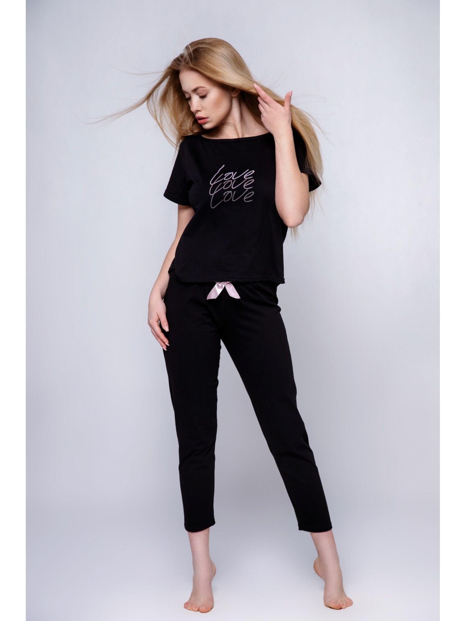 Пижама женская со штанами CATALINA, чёрный, Sensis