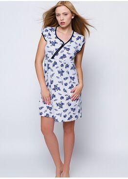 Сорочка MARINE серый/синий