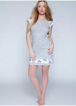 Сорочка ROMANTIC серый