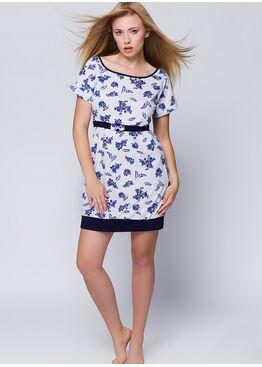 Сорочка ROSALIA синий/белый