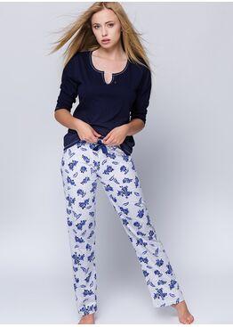 Пижама ROSALIA синий/белый