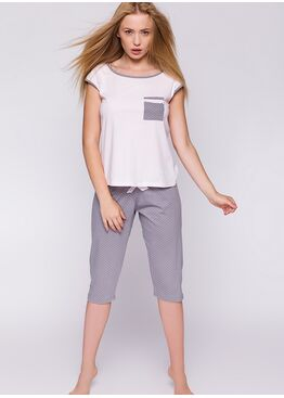 Пижама GISELLE розовый/серый