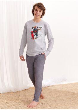 Пижама подростковая со штанами 1175 S20/21 KAROL, серый, TARO