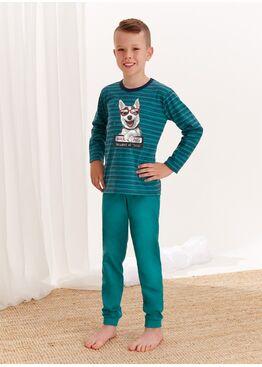 Пижама для мальчиков со штанами 280/281 S20/21 MAX, зеленый, TARO