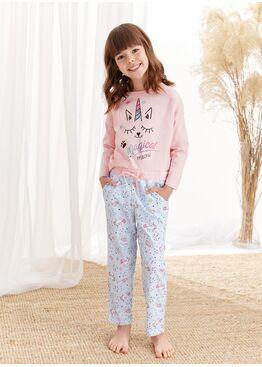 Пижама для девочек со штанами 1179/1180 S20/21 NADIA, абрикосовый, TARO