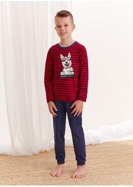 Пижама для мальчиков со штанами 280/281 S20/21 MAX, красный-синий, TARO