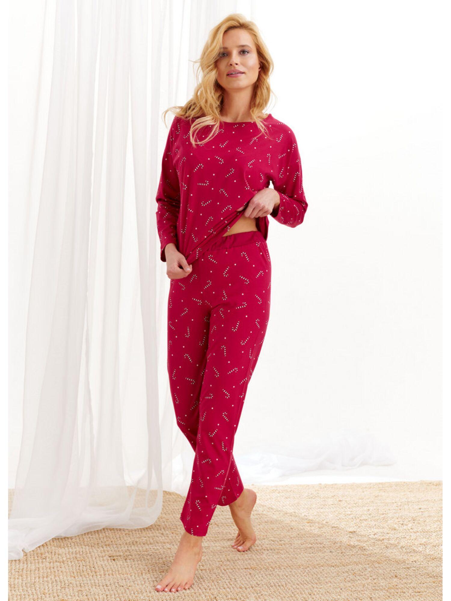 Пижама женская со штанами 1196 AW20/21 JURATA, красный, Taro