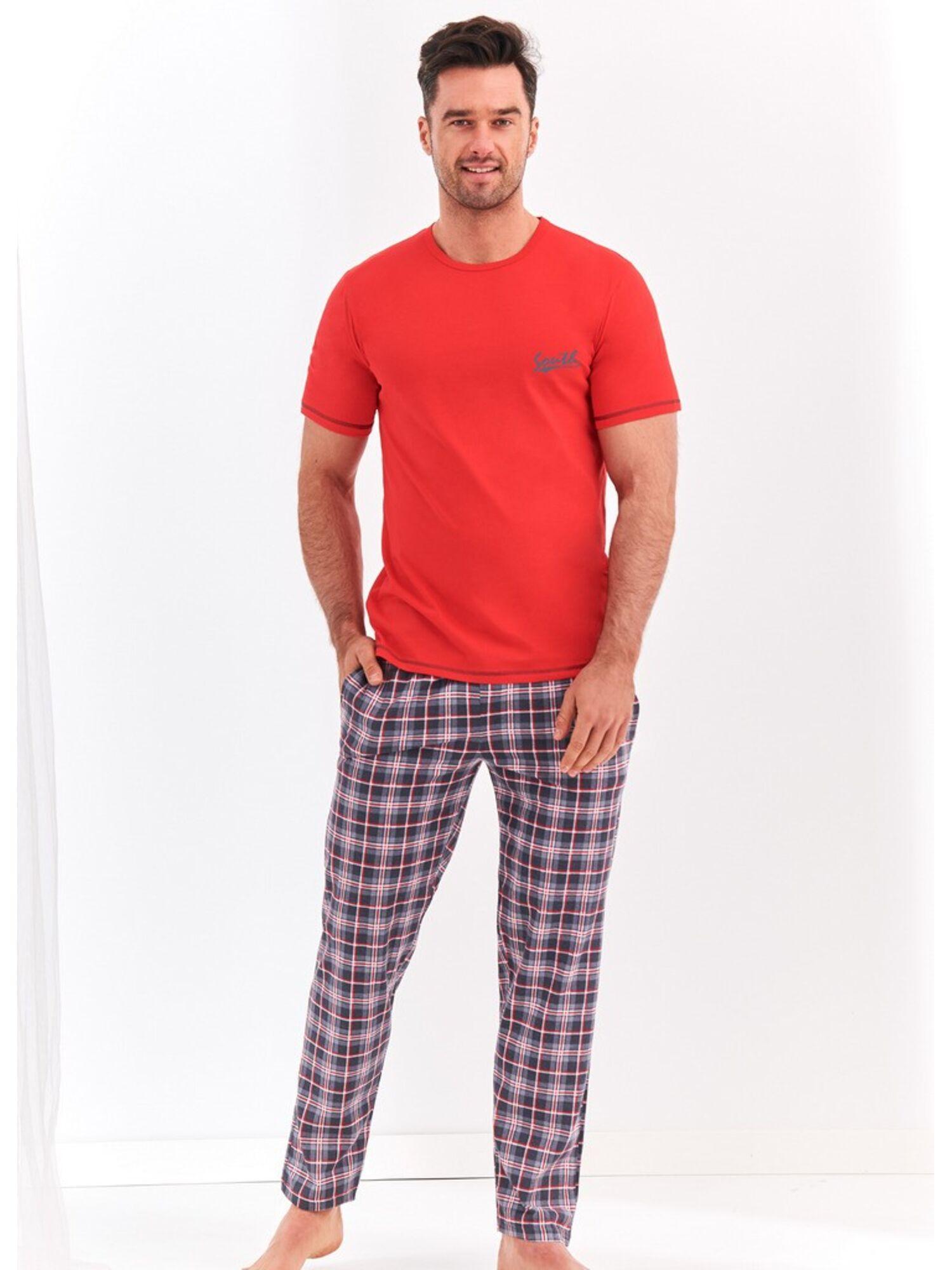 Пижама мужская из хлопка с шортами 2199 S20 JEREMI синий , TARO