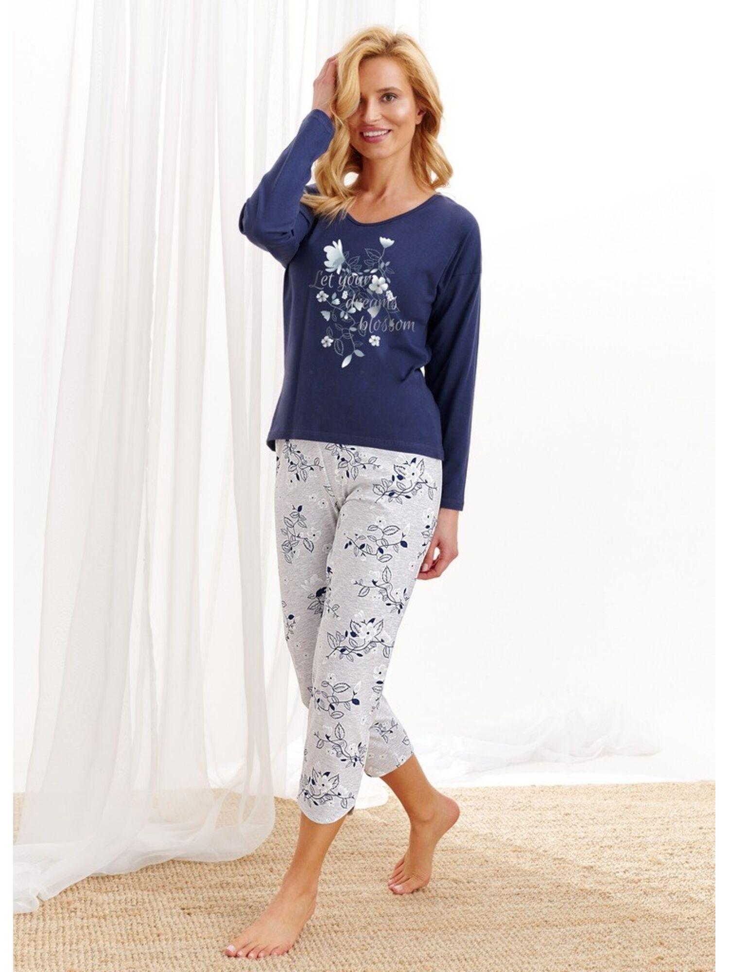 Пижама женская со штанами 2316/2469 AW20/21 AGNIESZKA, синий, Taro