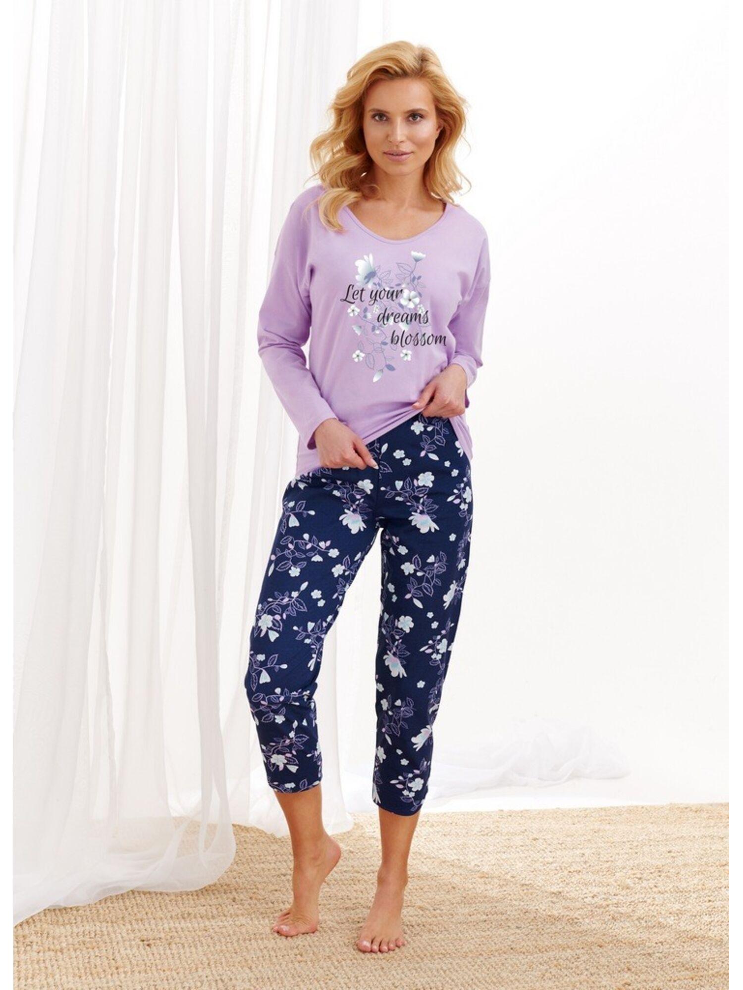 Пижама женская со штанами 2316/2469 AW20/21 AGNIESZKA, сиреневый, Taro