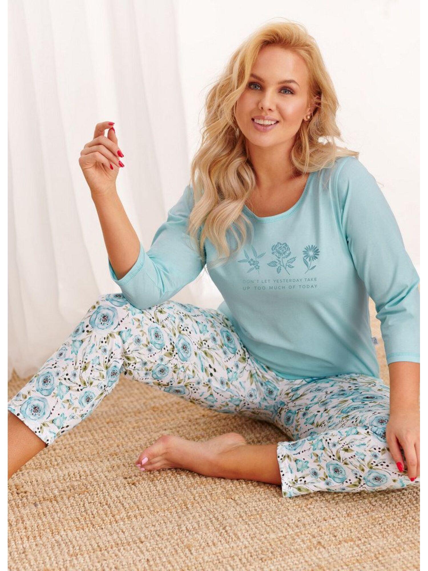 Пижама женская со штанами 2234/2242/2328 AW20/21 NINA, голубой, Taro