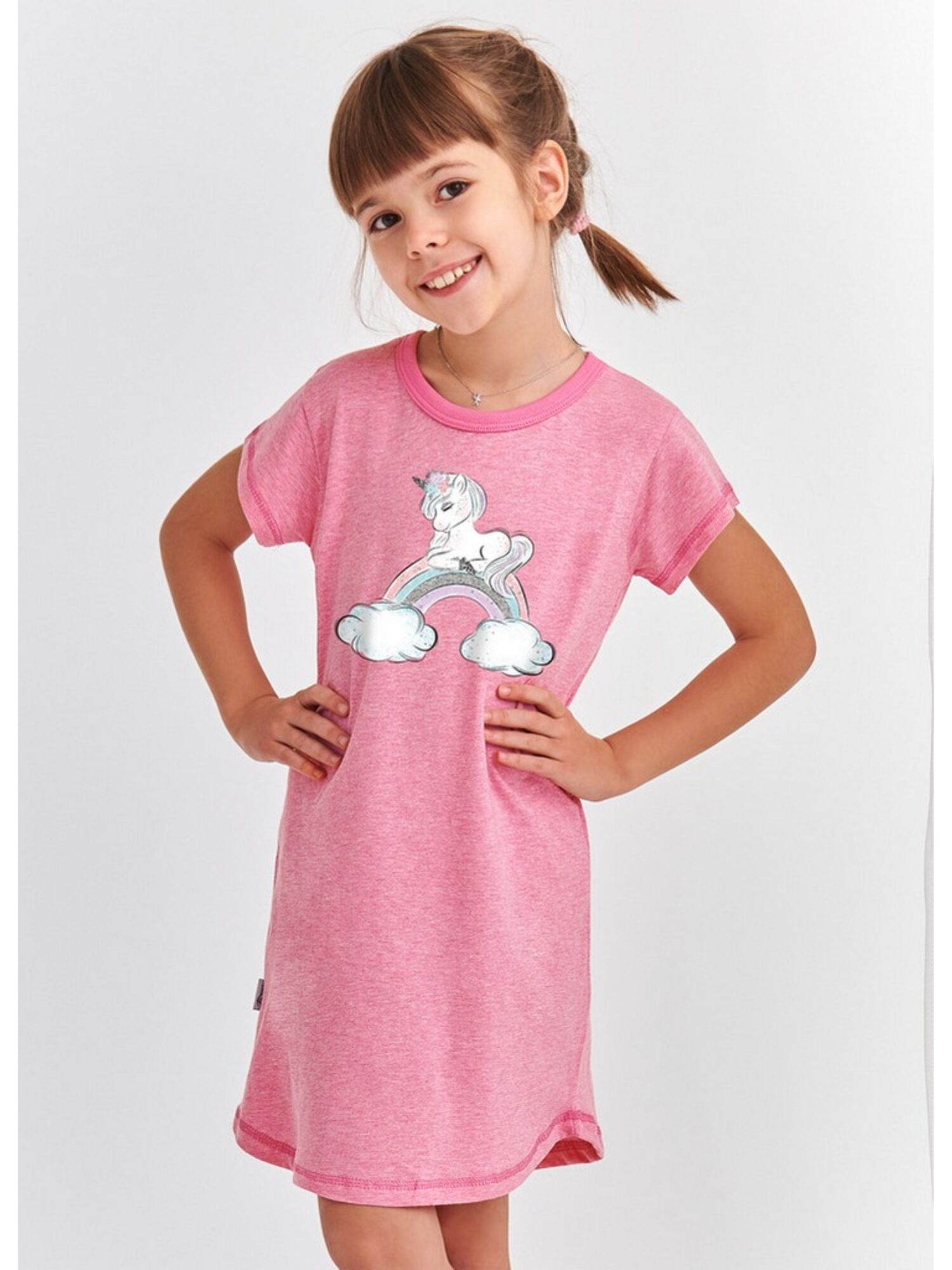 Сорочка детская из хлопка 2093 S20 MATYLDA розовый, TARO