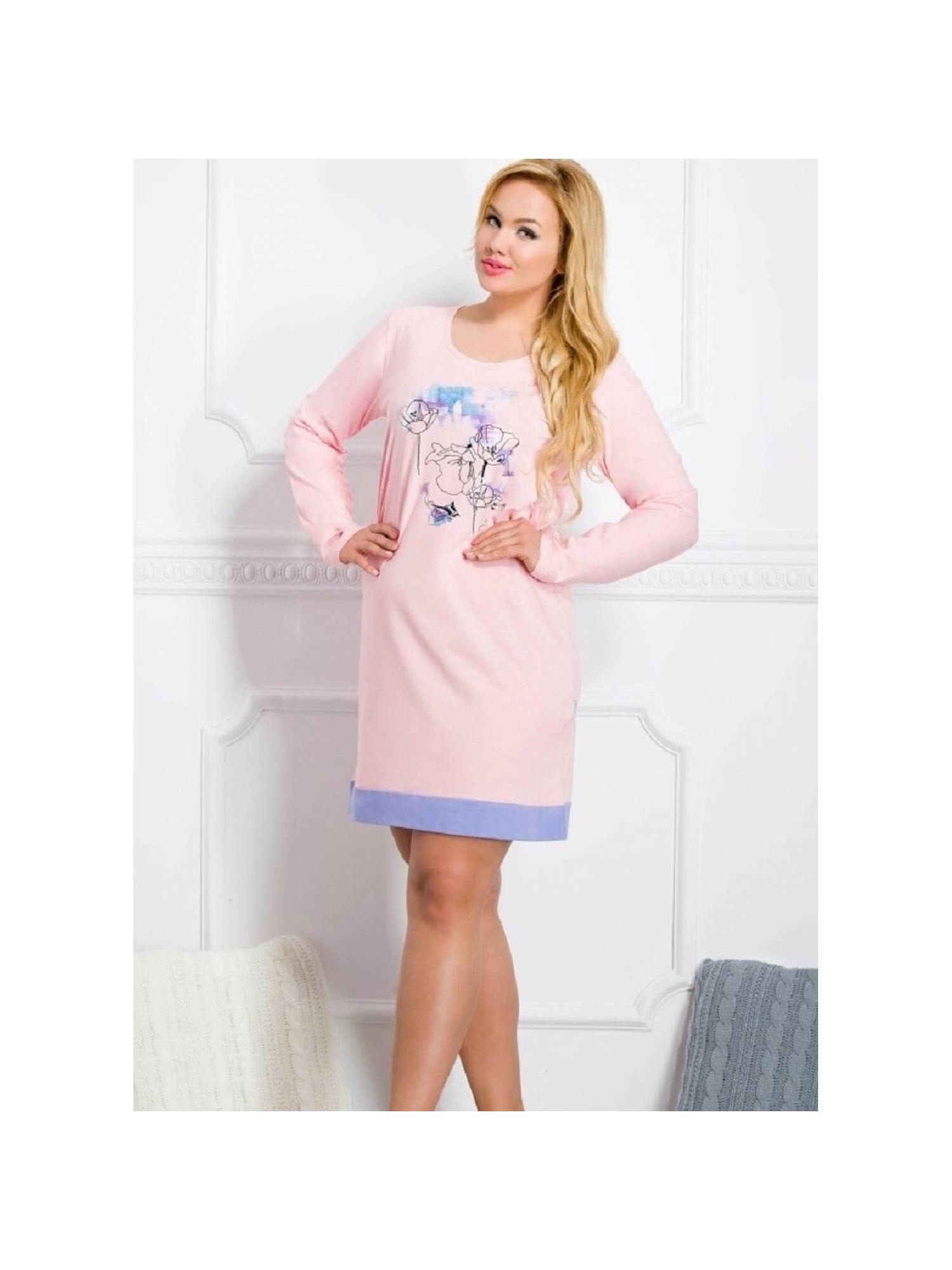 Женская хлопковая сорочка 2015/2016 Viva розовый