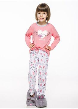 Пижама детская 2252/2253 19/20 Maja розовый/белый, Taro