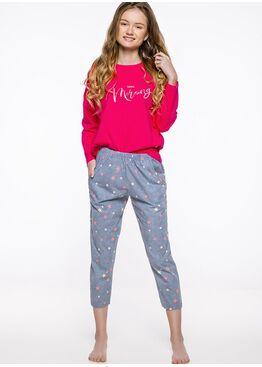 Пижама подростковая 2333 19/20 Molly серый/малиновый, Taro