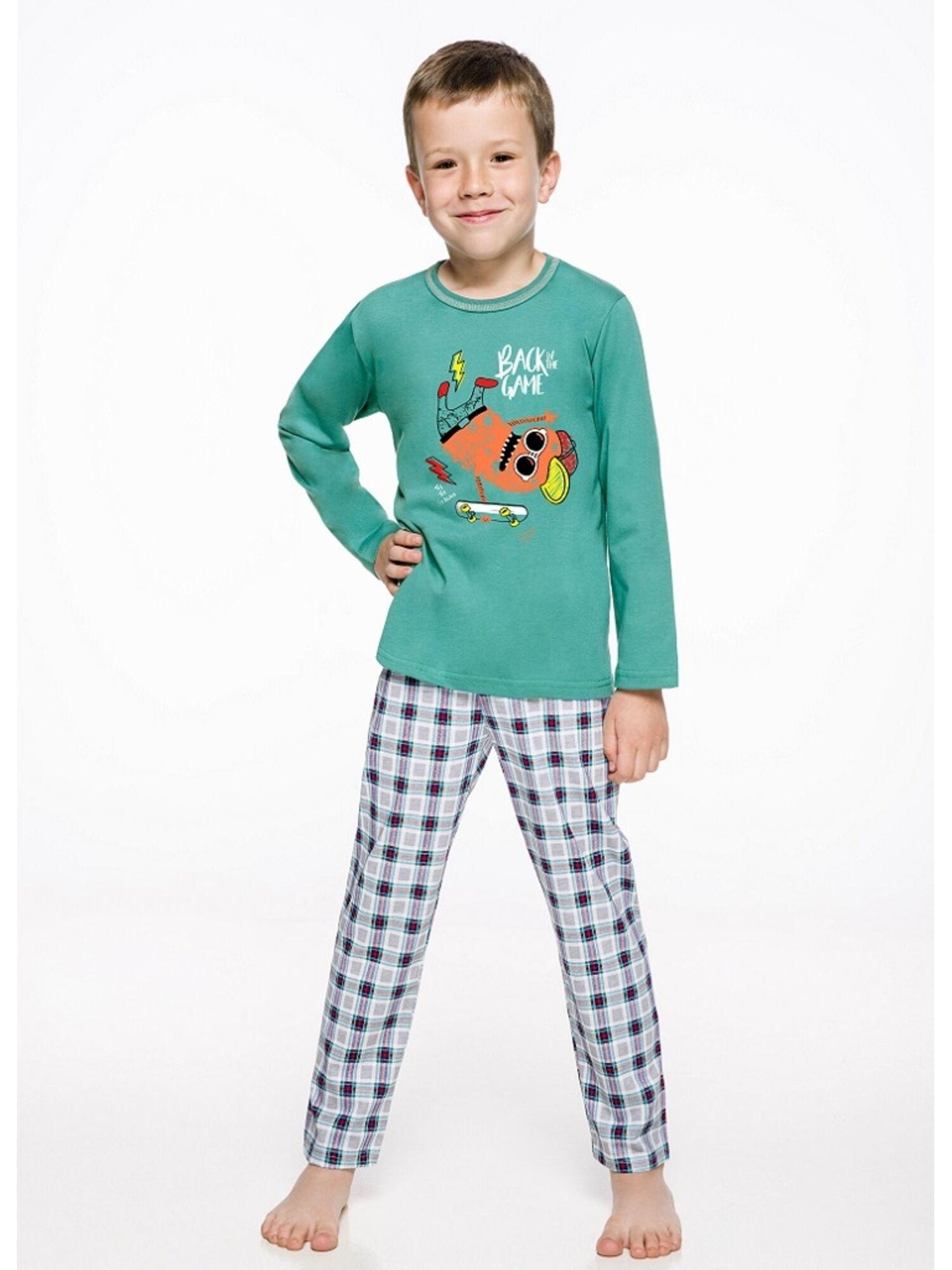Пижама детская на мальчика 2342/2343 19/20 LEO зеленый/серый, Taro