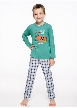 Пижама детская 2342/2343 19/20 LEO зеленый/серый, Taro