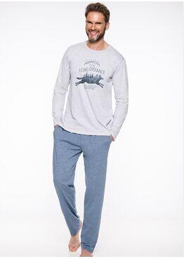 Пижама мужская 1006/1007 19/20 KAROL серый/синий, Taro