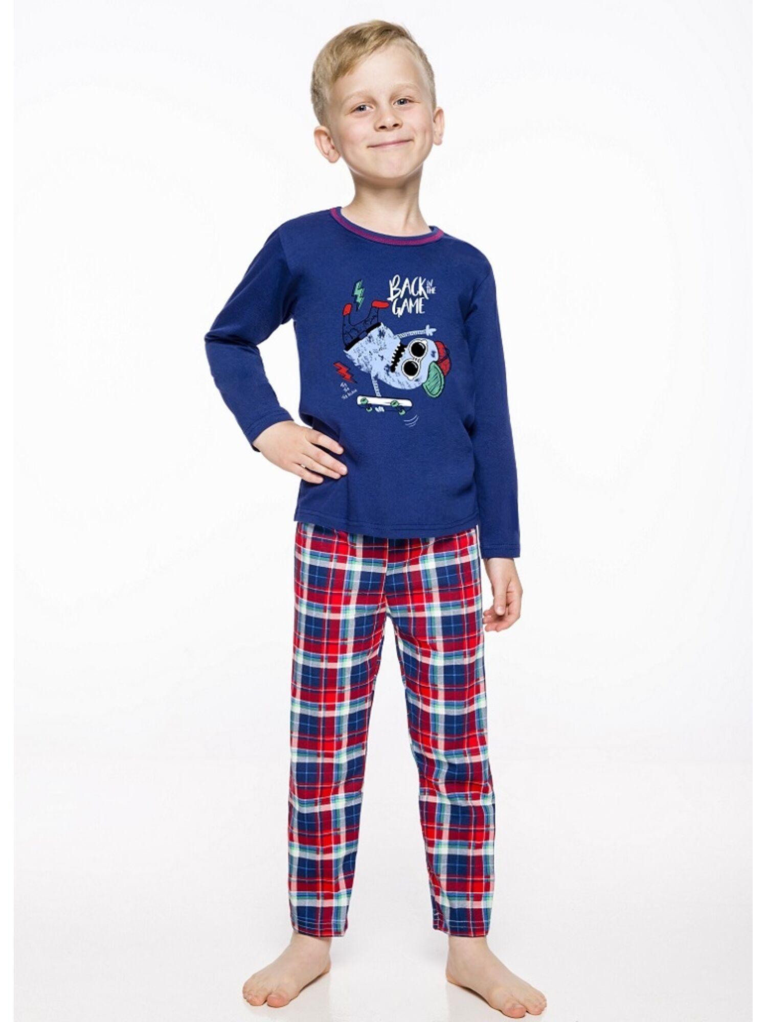 Пижама детская на мальчика 2342/2343 19/20 LEO синий/красный, Taro