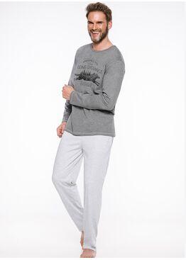 Пижама мужская 1006/1007 19/20 KAROL т.серый, Taro