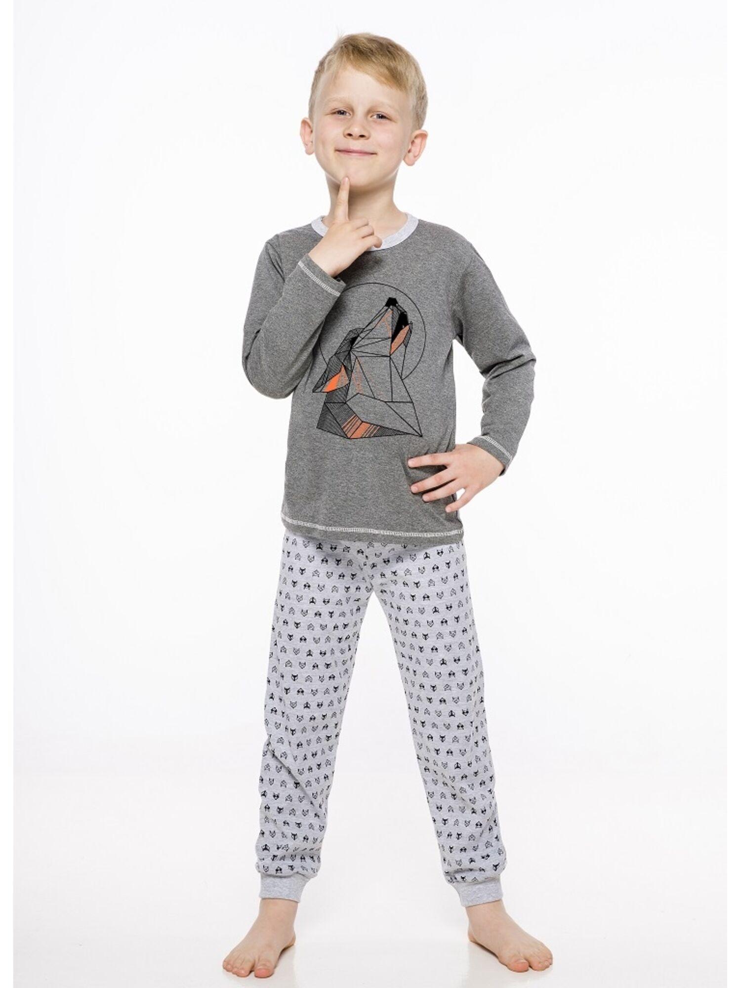 Пижама детская с штанами 2344/2345 19/20 CZAREK т.серый, Taro