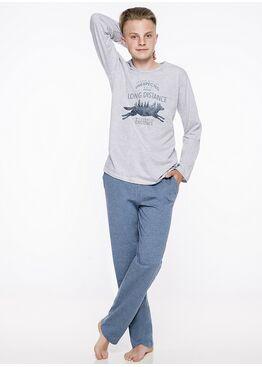 Пижама подростковая 1175 19/20 KAROL серый/синий, Taro