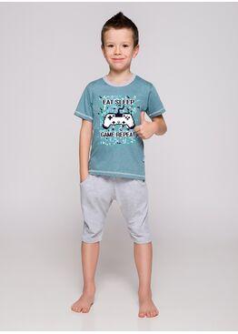 Пижама детская 22215/2216 19 Alan зеленый/серый