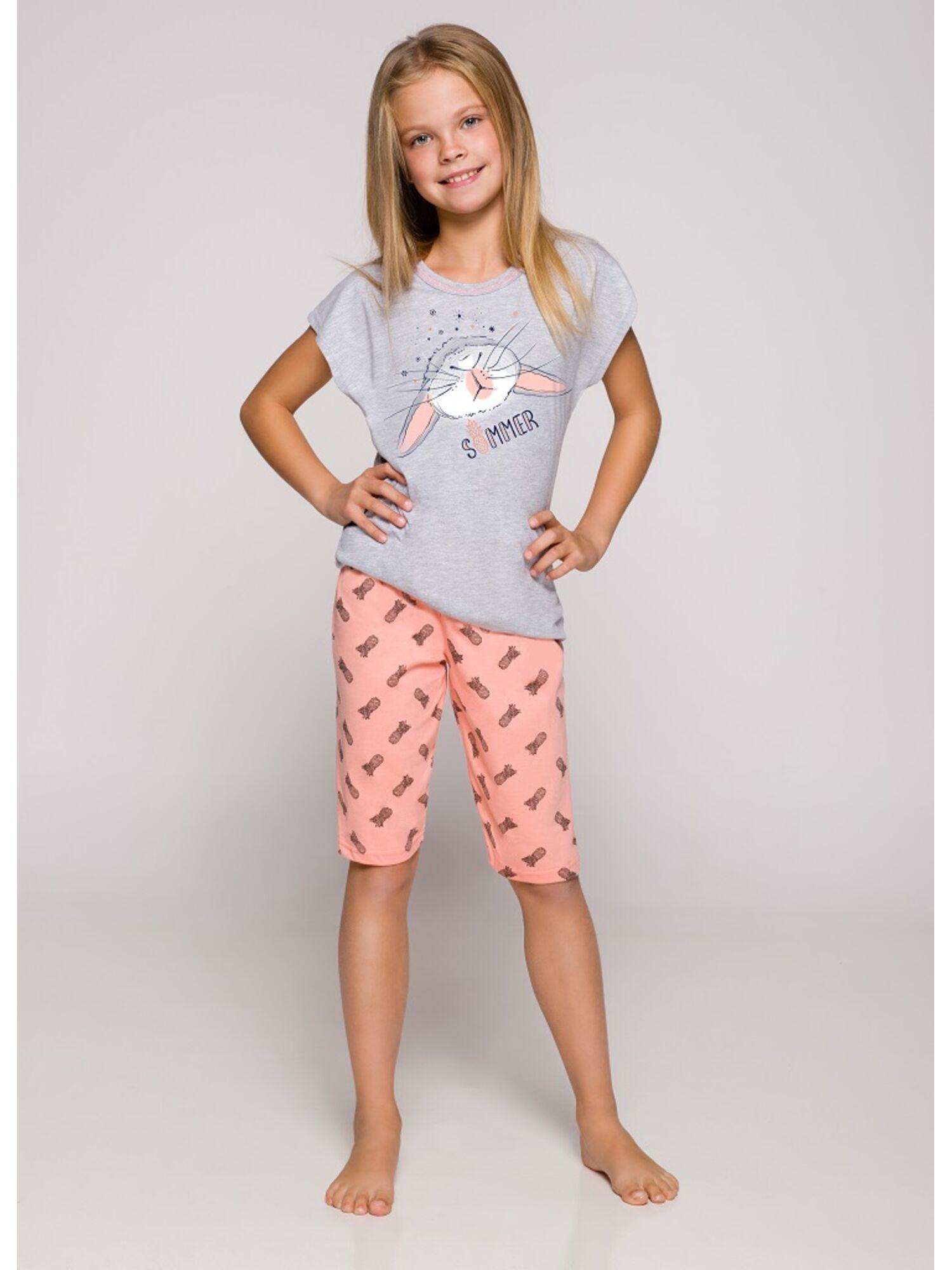 Пижама детская 2202/2203 19 Amelia серый/розовый