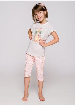 Пижама детская 2213/2214 19 Beki серый/розовый