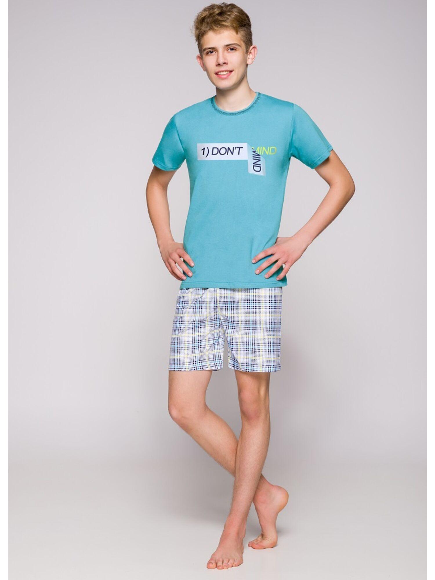 Пижама подростковая 1111 19 Damian голубой