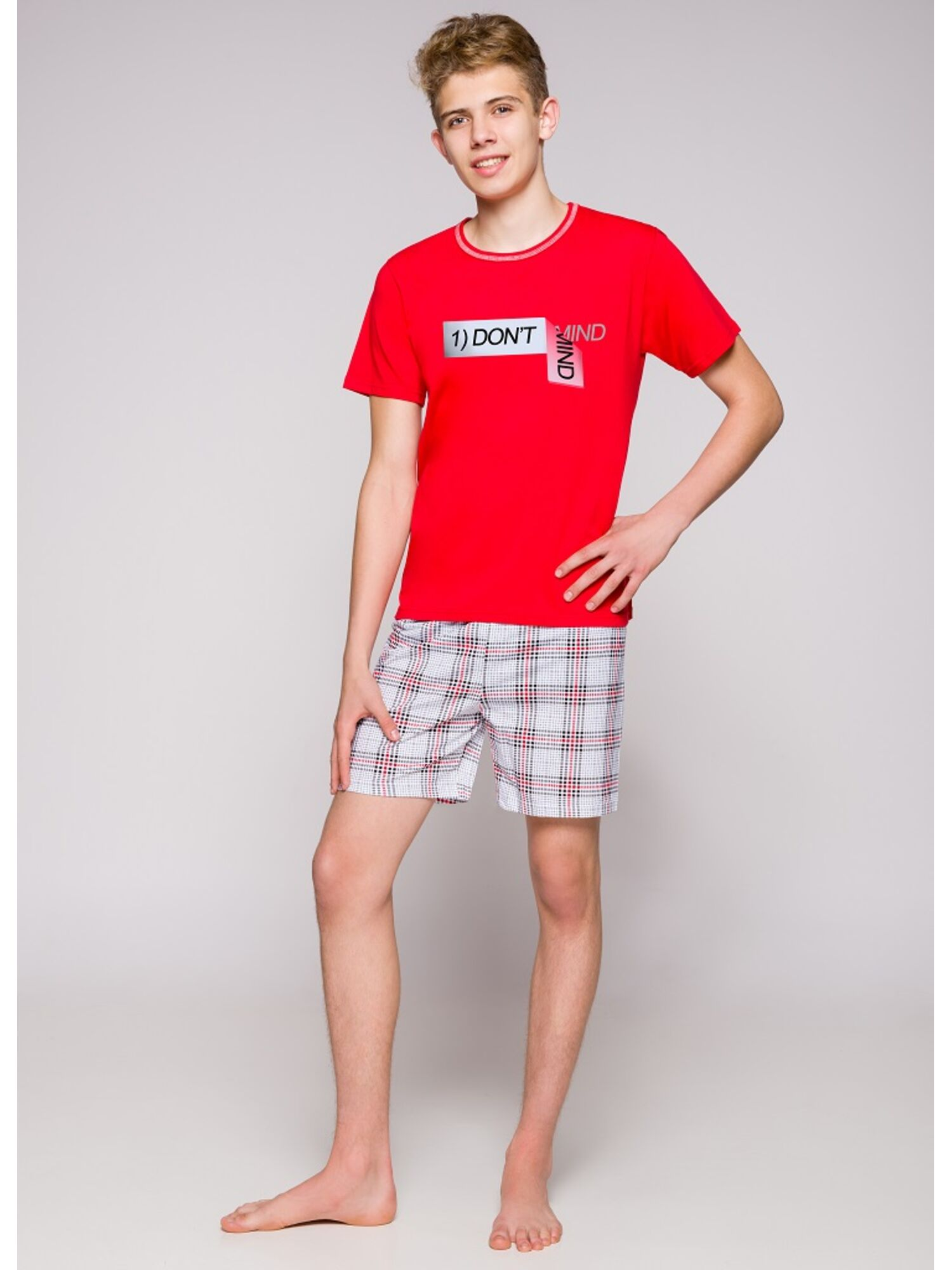 Пижама подростковая 1111 19 Damian красный
