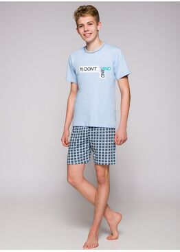 Пижама подростковая 1111 19 Damian св.голубой