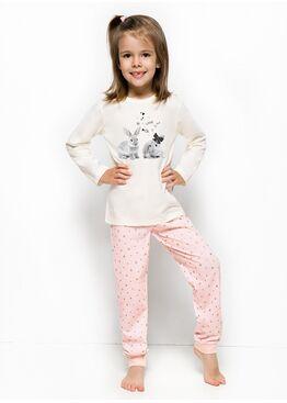 Пижама 1164/1165 18/19 ELZA экрю/розовый