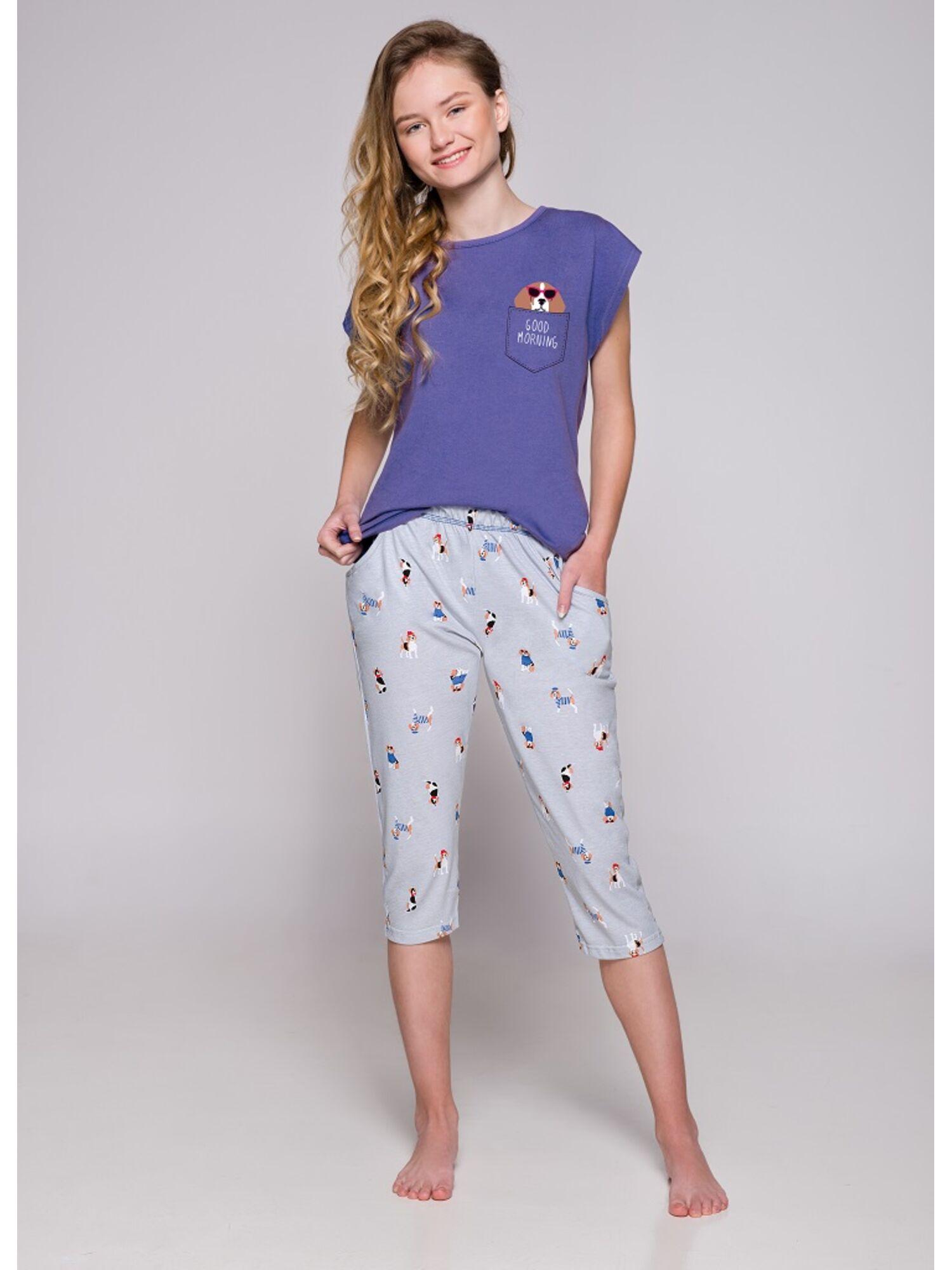Пижама подростковая 2307 19 Etna синий/серый