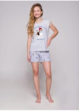 Пижама подростковая 2305 19 Eva серый