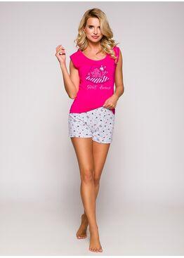 Пижама женская с шортами 2157 19 Eva розовый