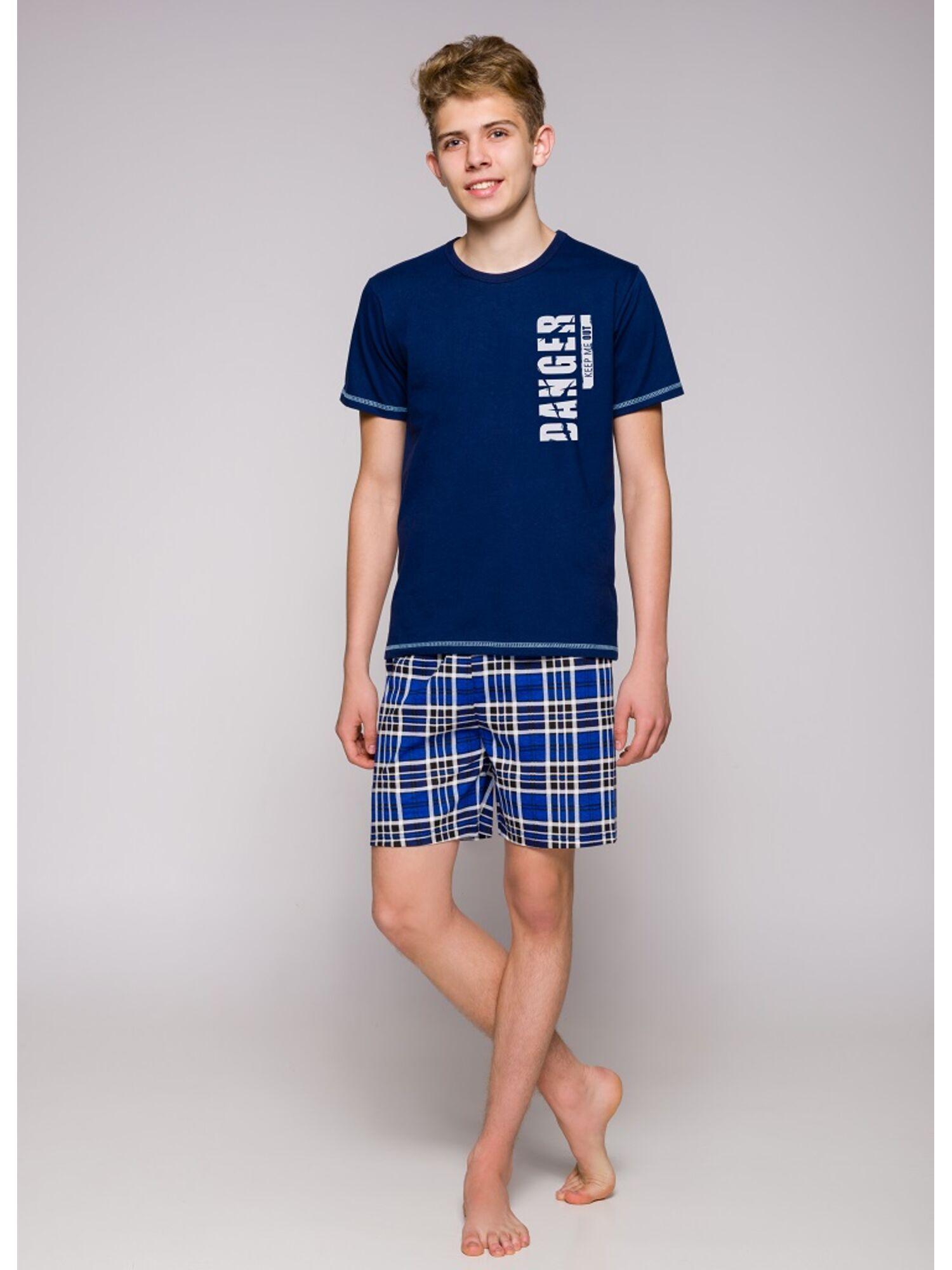 Пижама подростковая 389 19 Franek синий