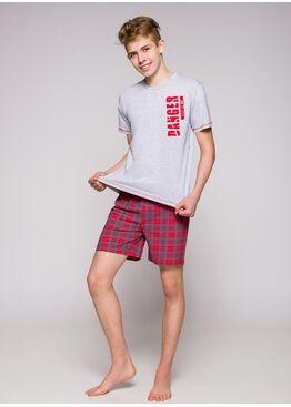 Пижама подростковая 389 19 Franek красный/серый