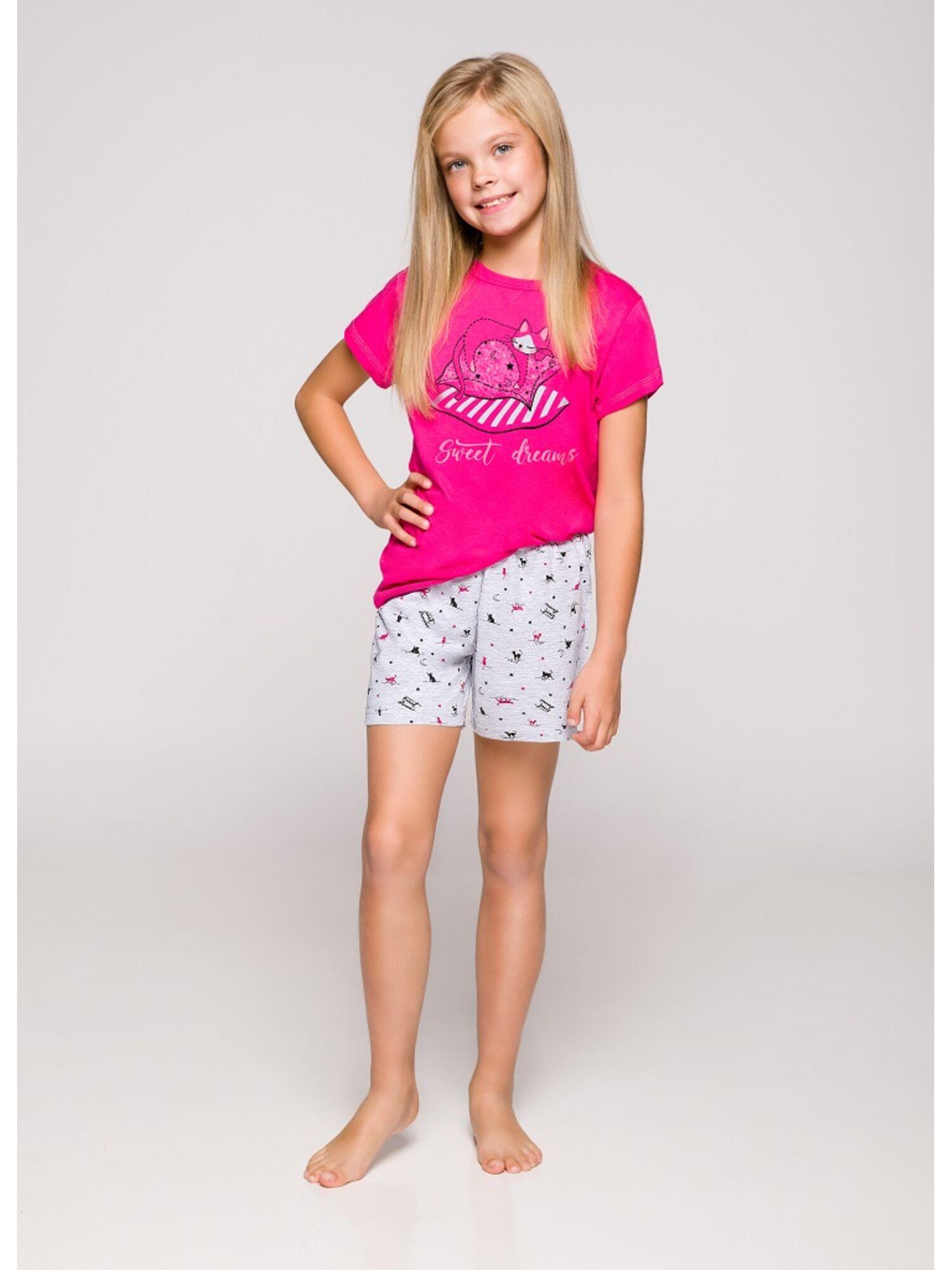Пижама детская 2200/2201 19 Hania серый/малиновый