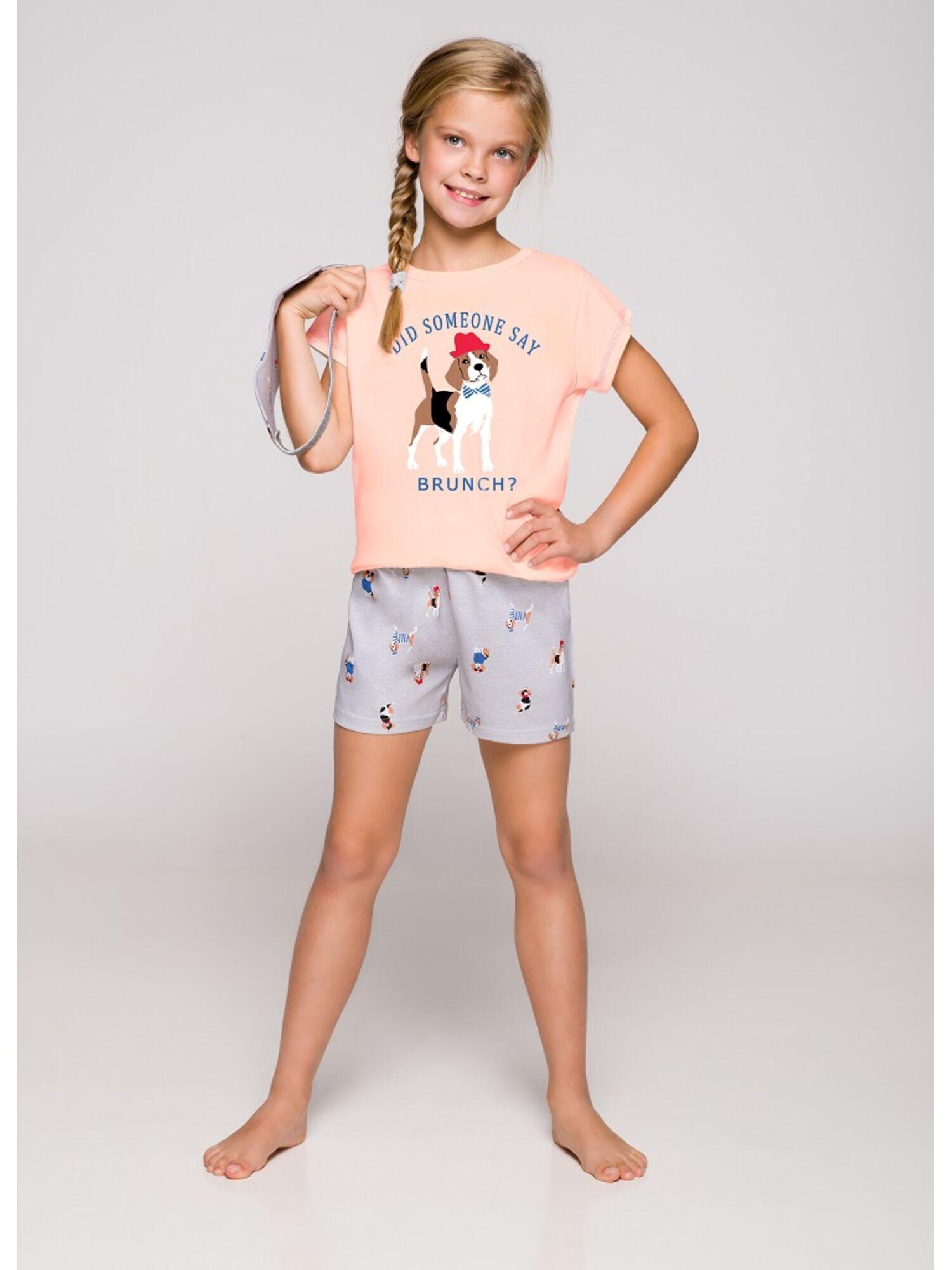 Пижама детская 2200/2201 19 Hania серый/розовый