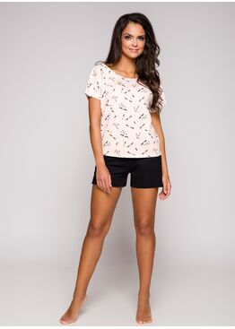Пижама женская с шортами 2291 19 Iza розовый/черный